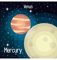 astronomy mercury system solar planets isolated vector image