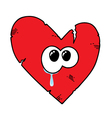 Cartoon broken heart vector image