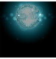 Disco ball background glowing vector image