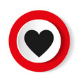 heart icon round icon flat design vector image