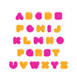 kids multicolored rounded bold english font vector image