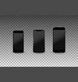 modern smartphones with empty screens high vector image