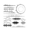 set of audio equalizer shapes vector image