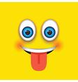 tongue out square emoji vector image
