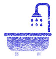 shower bath grunge textured icon vector image