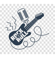 silhouette icon rock-n-roll day vector image vector image
