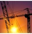 Highrise tower crane vector image vector image