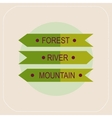Arrows forest river mountain icon vector image