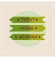 Arrows forest river mountain icon vector image vector image