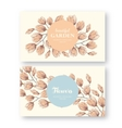 vintage labels with flower vector image