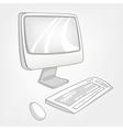 cartoon computer vector image