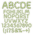 alphabet numbers and signs from mint sweets vector image