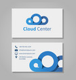 Cloud computing center business card template vector image