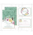 floral invitation template with signature vector image