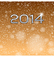 new year 2014 gold vector image