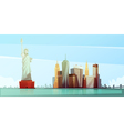 New York Skyline Design Concept vector image