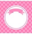 pink frame for invitation card vector image