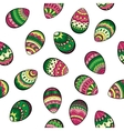 Seamless easter pattern with colorful eggs vector image