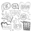 Speech Bubble Collection Monochrome Set vector image
