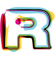 Colorful font vector image vector image
