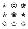 Star icons set simple style vector image