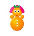 roly-poly girl toy vector image vector image