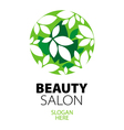 green ball of leaves logo for beauty salon vector image vector image