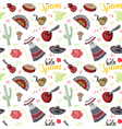 spain seamless pattern doodle elements hand drawn vector image