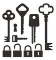 Key Lock vector image vector image