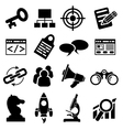 SEO Business Icon Set vector image