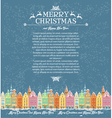 Template of Christmas cards with snowy old town vector image vector image