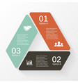 Triangle infographic diagram 3 options steps vector image vector image