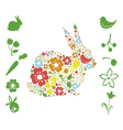 Floral Easter elements vector image vector image
