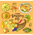thanksgiving day food vector image