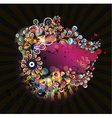 colorful abstract frame vector image vector image