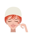 woman in spa icon vector image