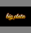 big data word text banner postcard logo icon vector image