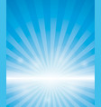 blue background with sunburst vector image