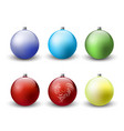 christmas balls decoration icon set vector image