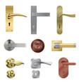 door handle realistic set vector image