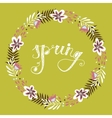 Floral frame Beautiful wreath made of hand drawn vector image