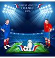 France 2016 Championship vector image