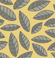 Leaf pattern Seamless doodle flowers vector image
