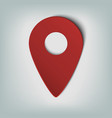 map marker icon with an oval gradient in smooth vector image
