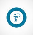 medical sign bold blue border circle icon vector image