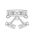 outline alpinism equipment harness icon vector image