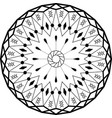 outline mandala round ornament vector image