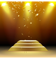 podium with confetti vector image