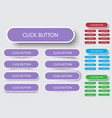 set of rectangular buttons with rounded corners vector image
