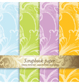 Floral scrapbook pattern vector image vector image